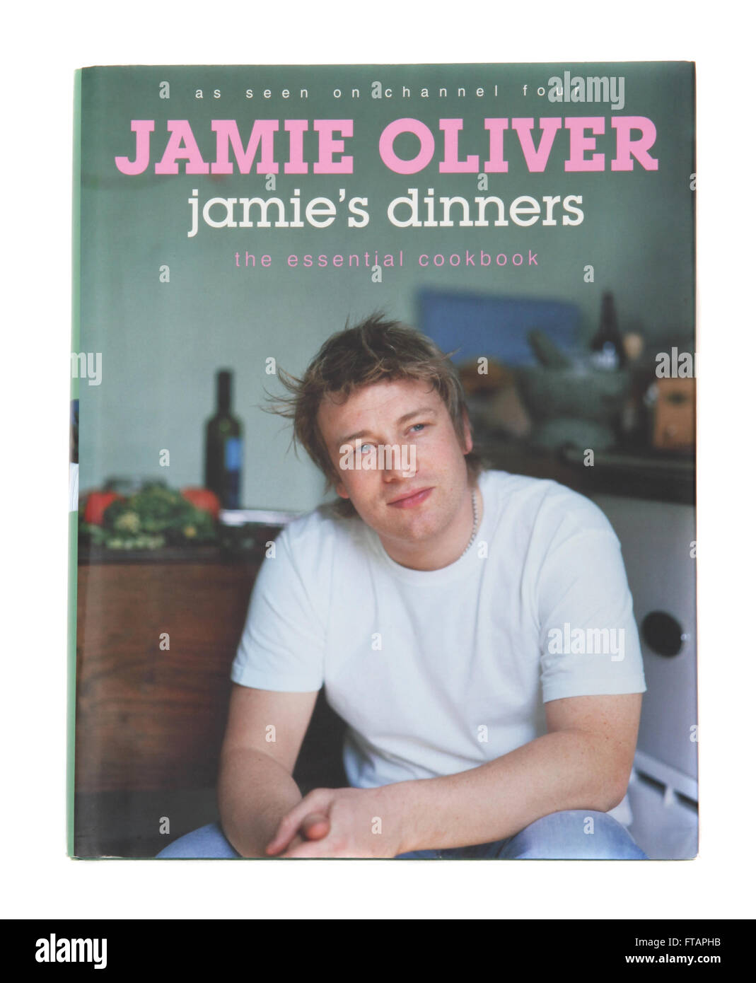 A cookery book called Jamie's Dinners - by Jamie Oliver - Stock Image