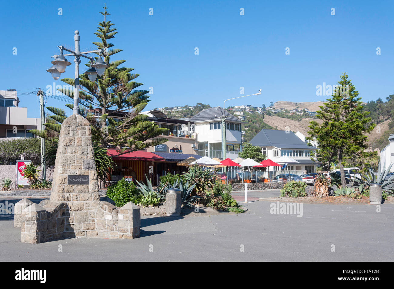 Foreshore at Sumner Beach, Esplanade, Sumner, Christchurch, Canterbury Region, South Island, New Zealand - Stock Image