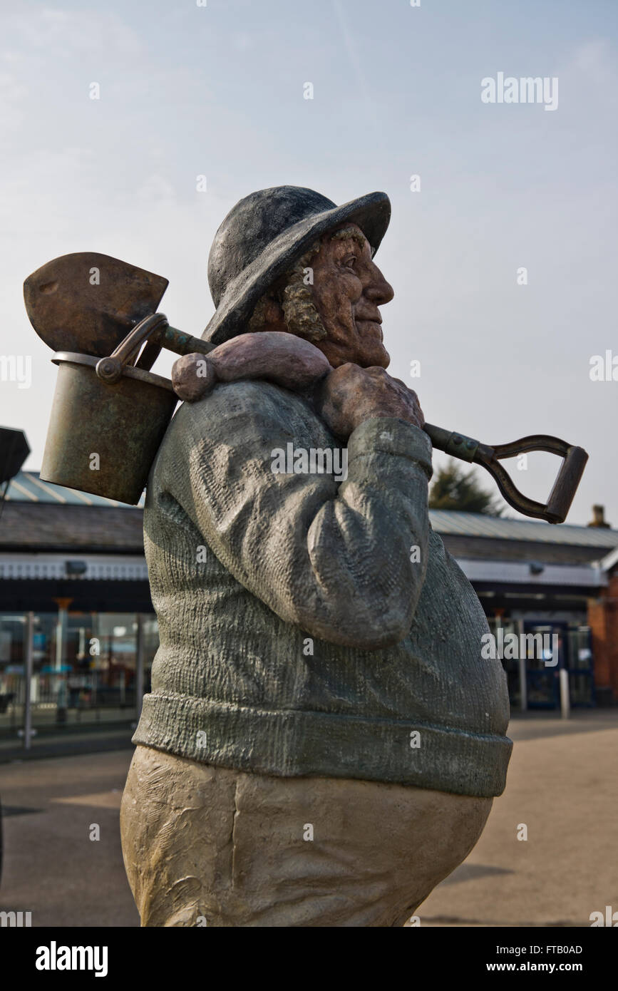 The Jolly Fisherman was created by artist John Hassall in 1908 as a poster for GNR to advertise Skegness. - Stock Image