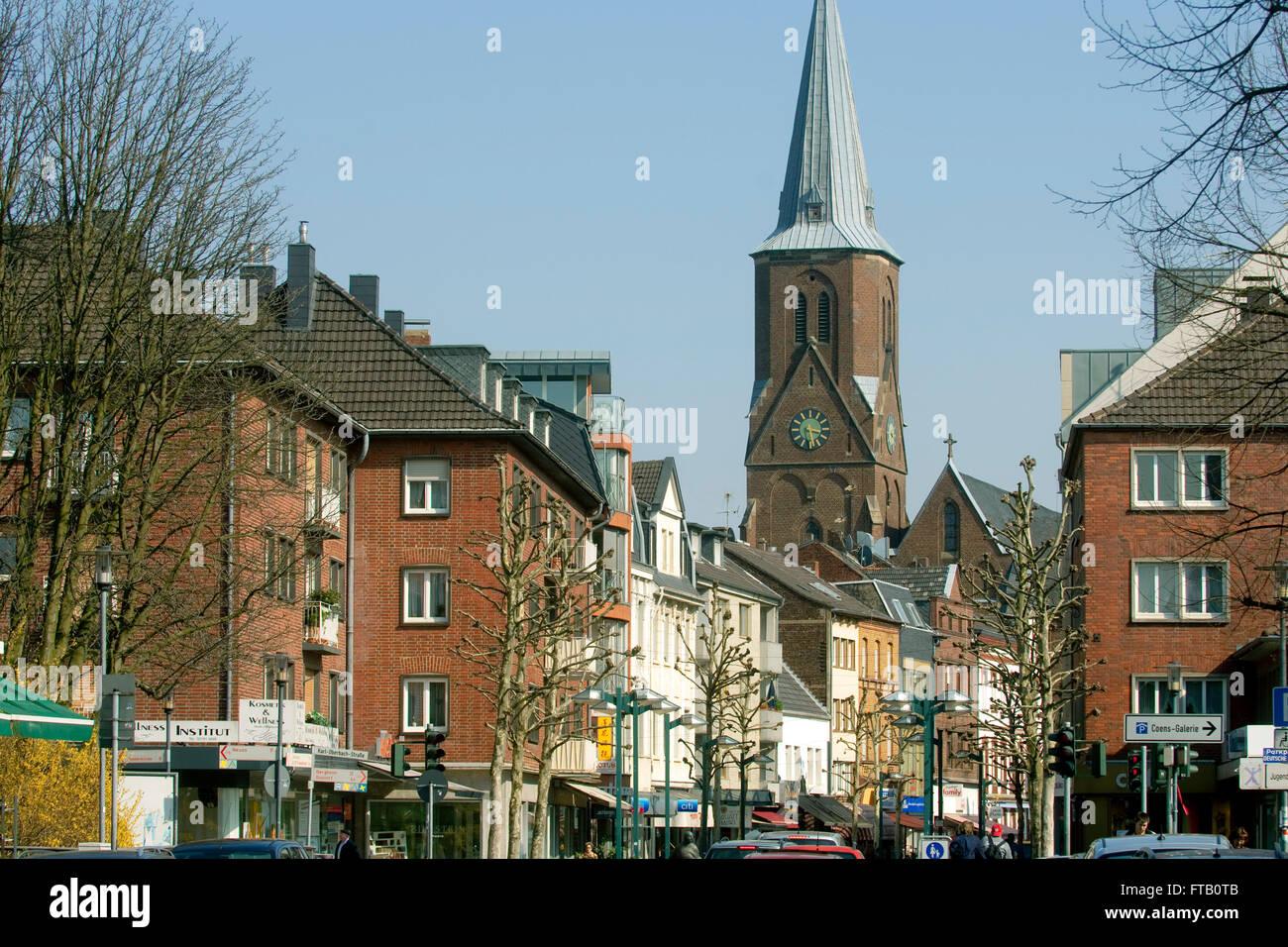 BRD, Nordrhein-Westfalen, Rhein-Kreis Neuss, Grevenbroich, Stadtansicht - Stock Image