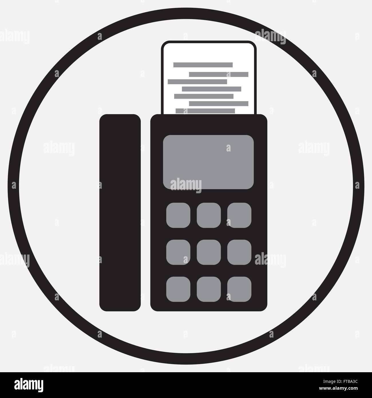 Fax device icon monochrome black white icon fax sign fax phone fax device icon monochrome black white icon fax sign fax phone fax communication fax machine fax telephone office vector sciox Gallery