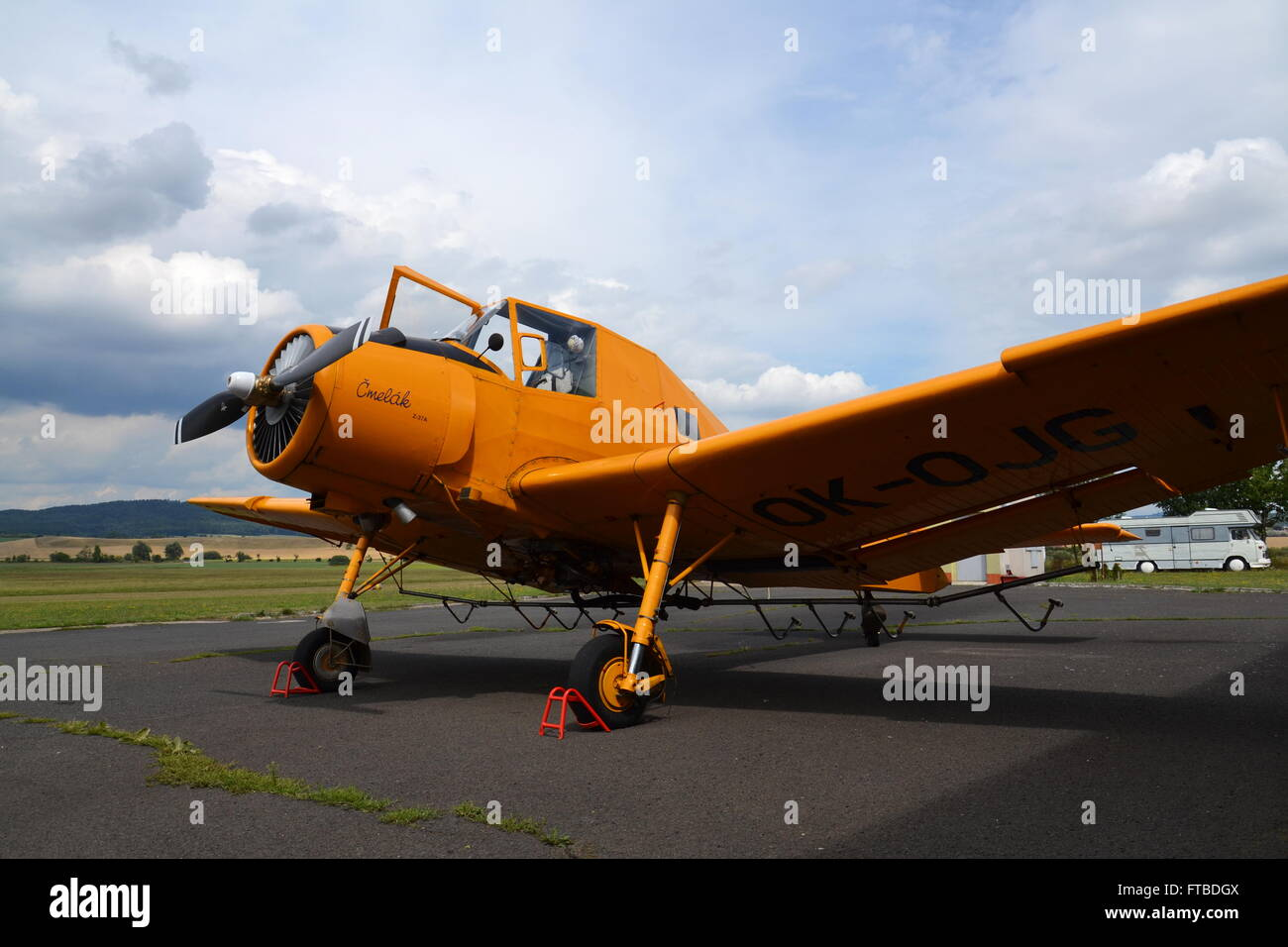 Zlin Z-37 Cmelak - czech agricultural aircraft used mainly as crop duster - Stock Image