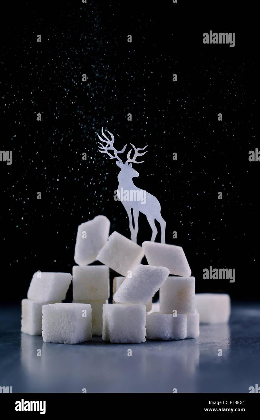 North Pole sugar - Stock Image