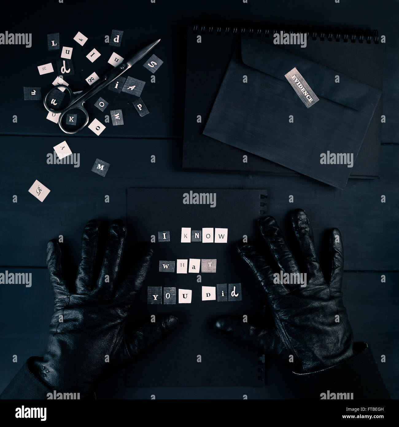 Blackmailer - Stock Image