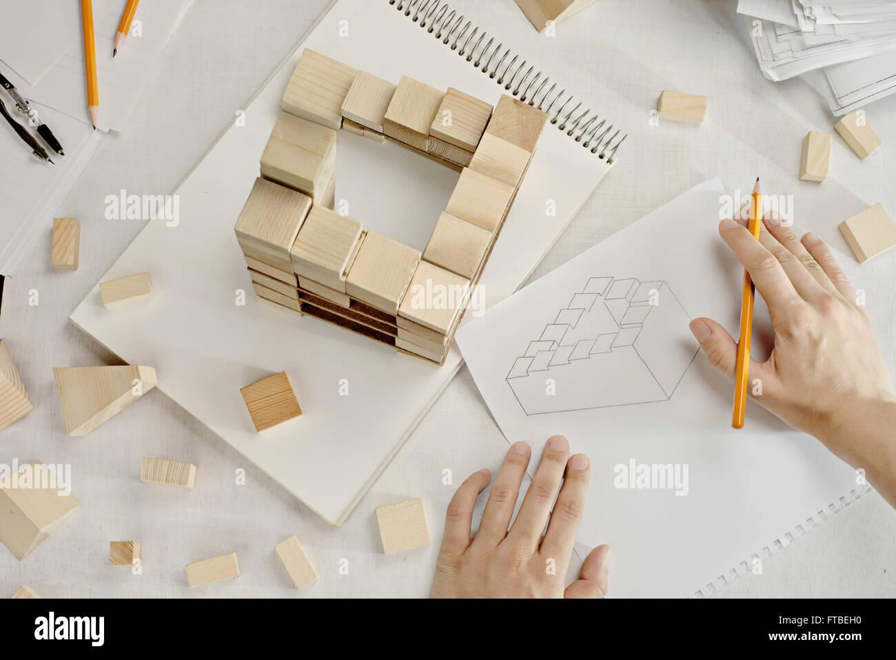 Perfect architect - Stock Image