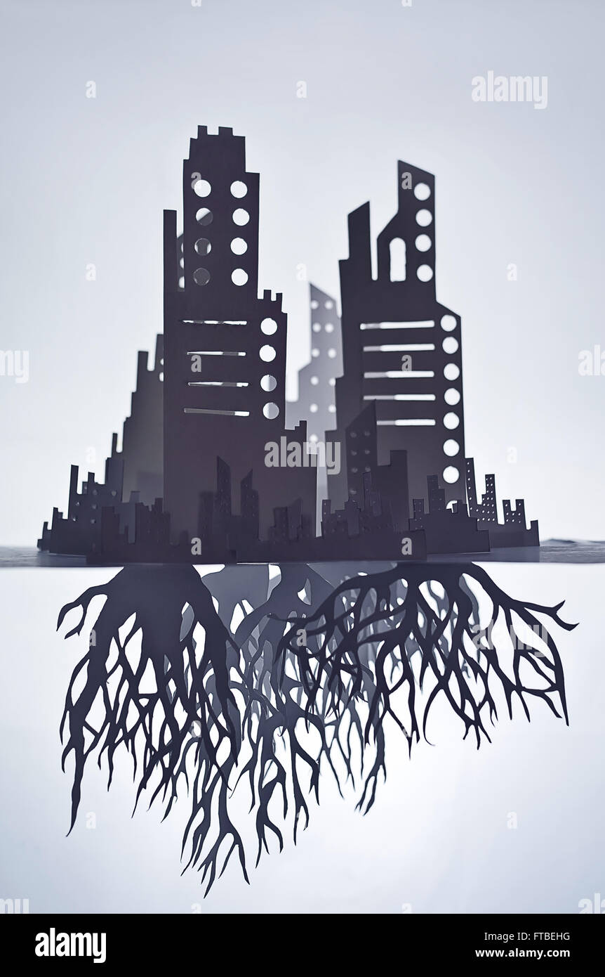 Roots of cities   © Tom Waits - Stock Image