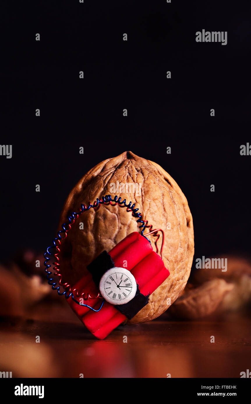 Hard nut to crack - Stock Image