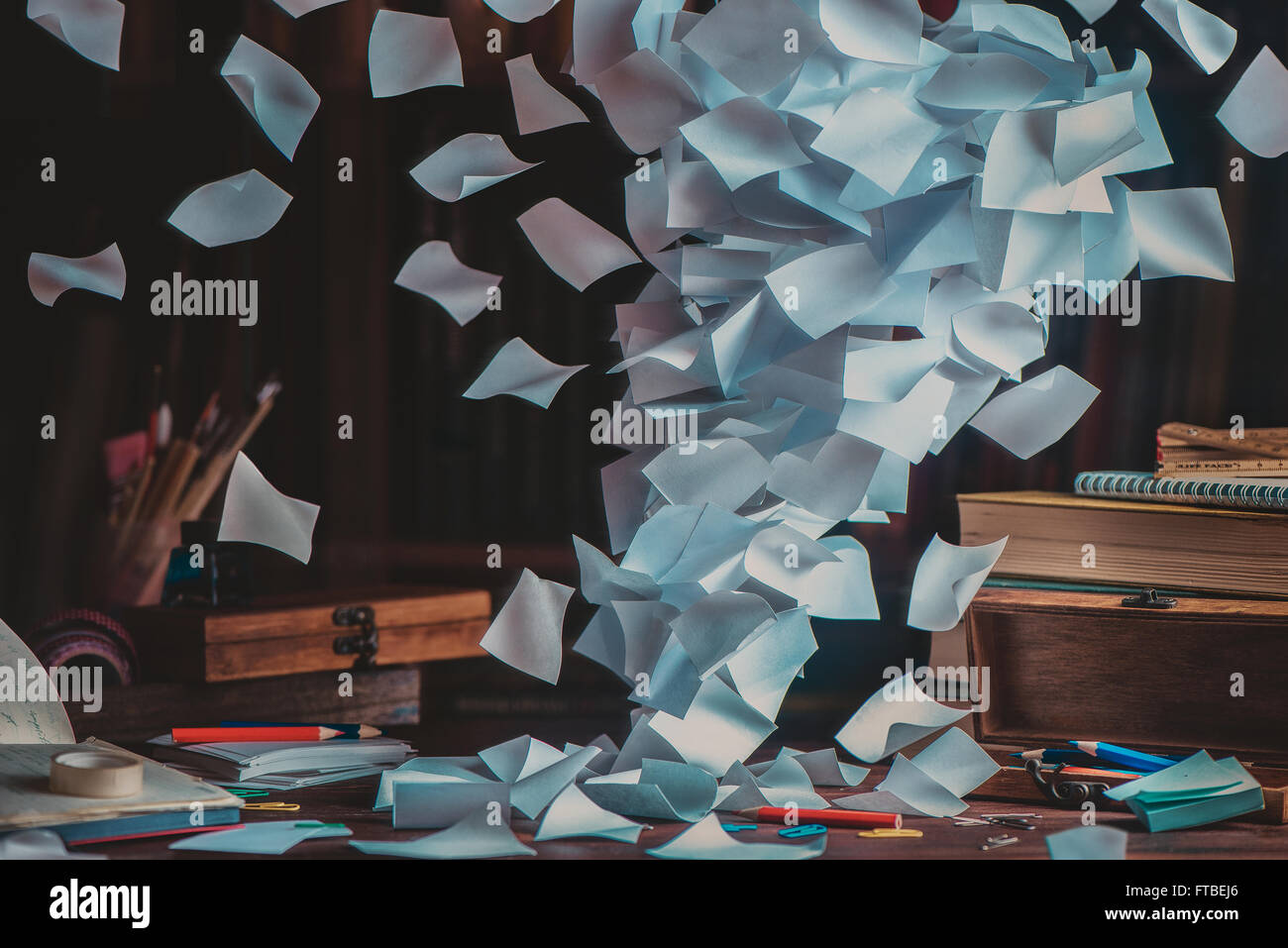 All my notes - Stock Image