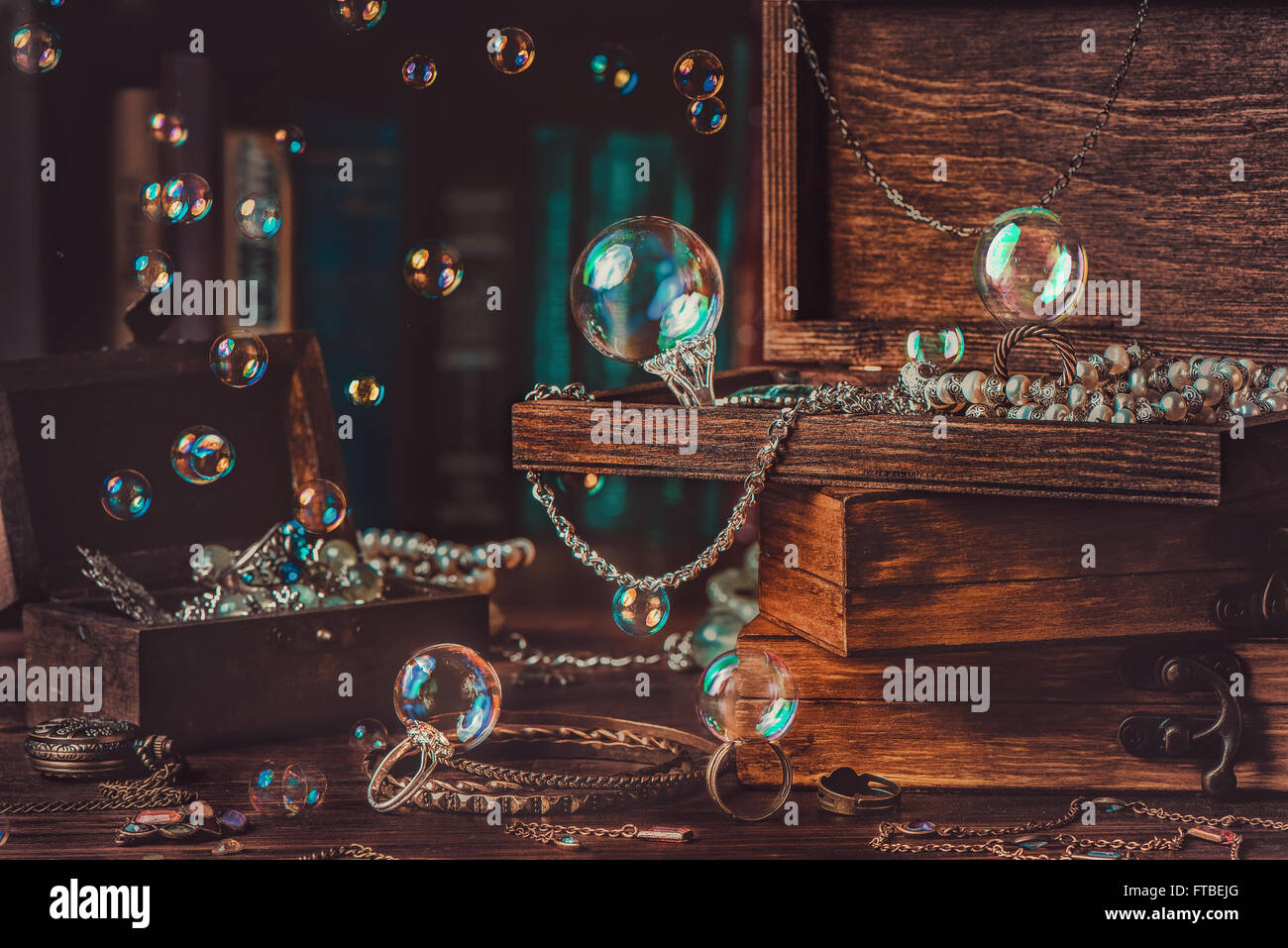 Jewelry box - Stock Image