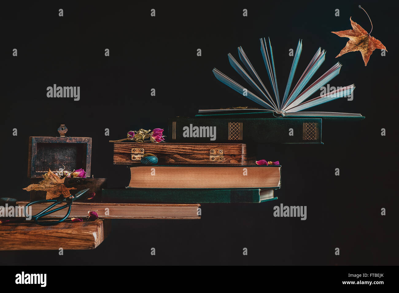 Autumn books - Stock Image