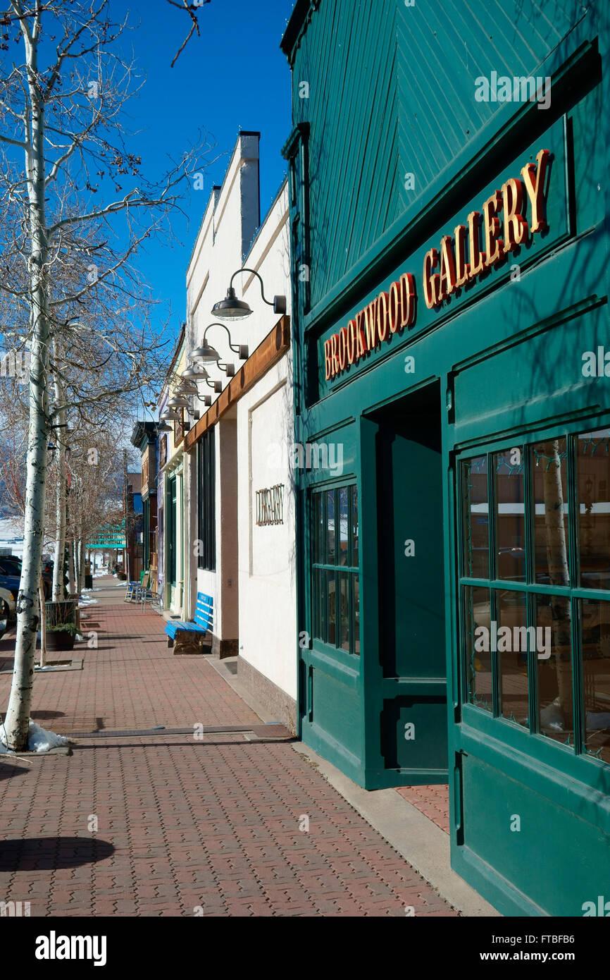 Historic Main Street, Westcliffe, Colorado, USA - Stock Image
