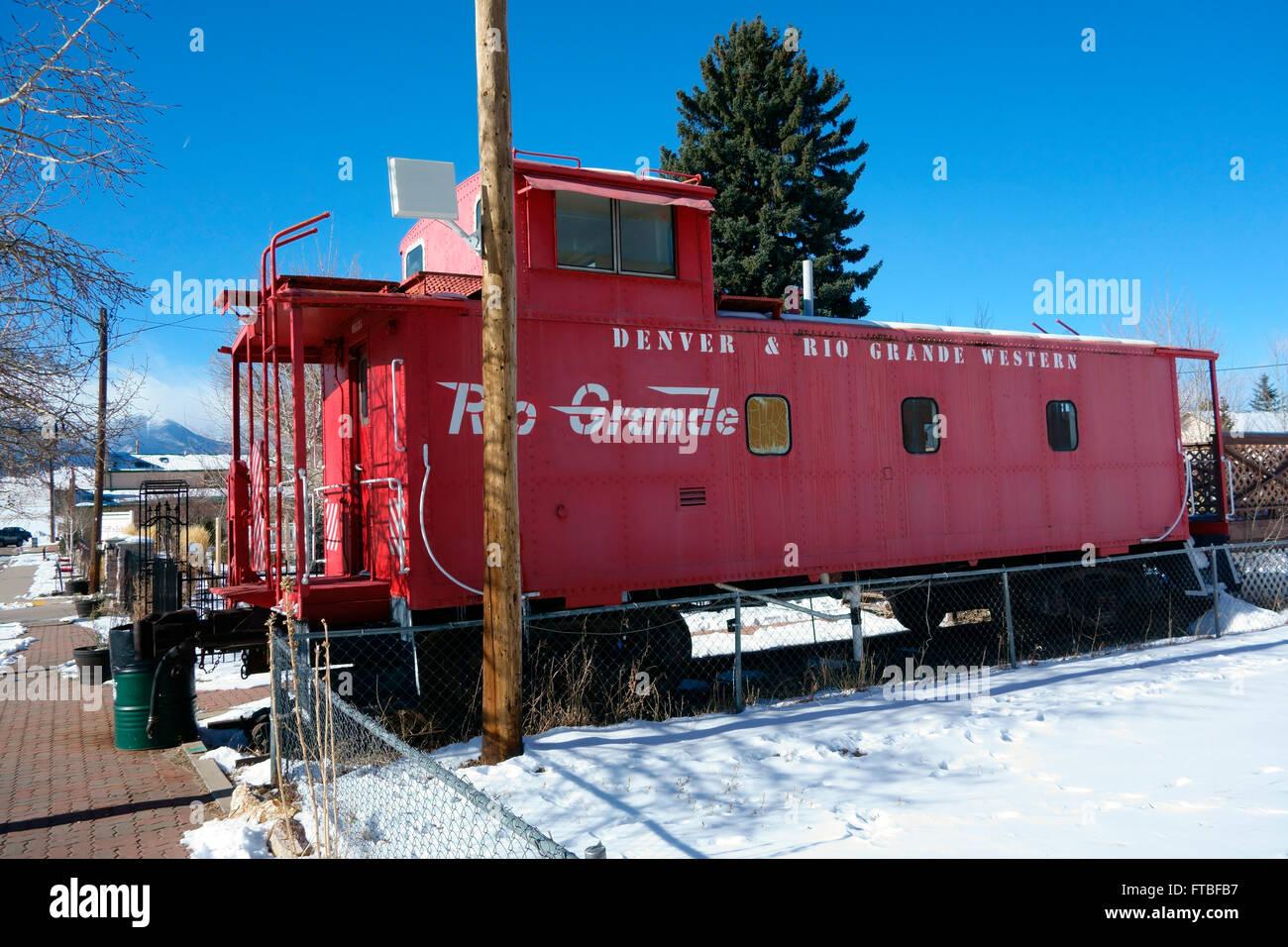 Historic Rio Grande locomotive, Westcliffe, Colorado, USA - Stock Image