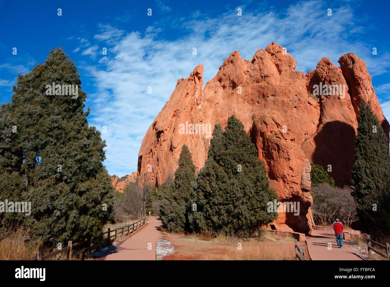 Garden of the Gods, Colorado Springs, Colorado, USA - Stock Image