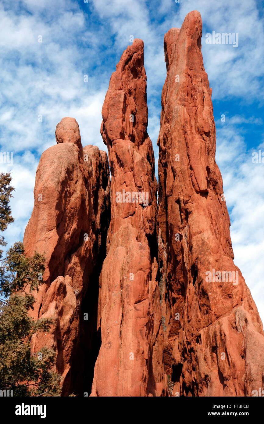 Garden of the Gods, Colorado Springs, Colorado, USA Stock Photo