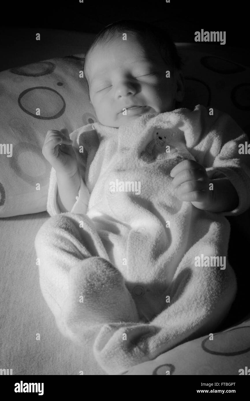 Baby, Boy, 1 week old - Stock Image