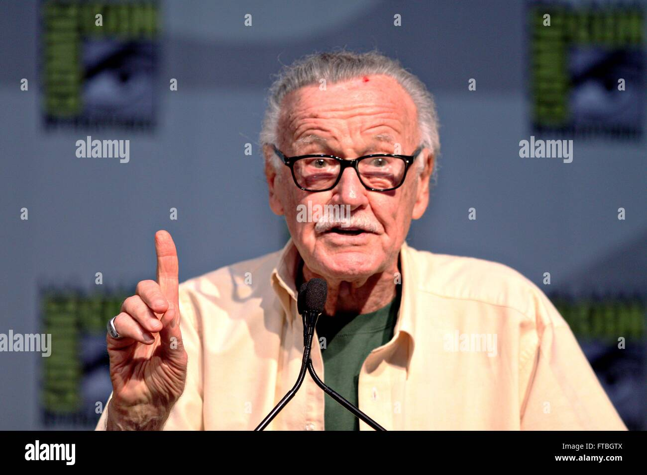 Comic book author and former head of Marvel Comics Stan Lee during the 2010 San Diego Comic Con July 23, 2010 in - Stock Image