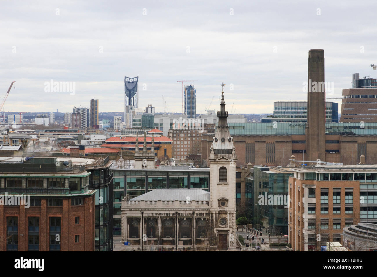 View from the roof top of One New Change in London, England. - Stock Image