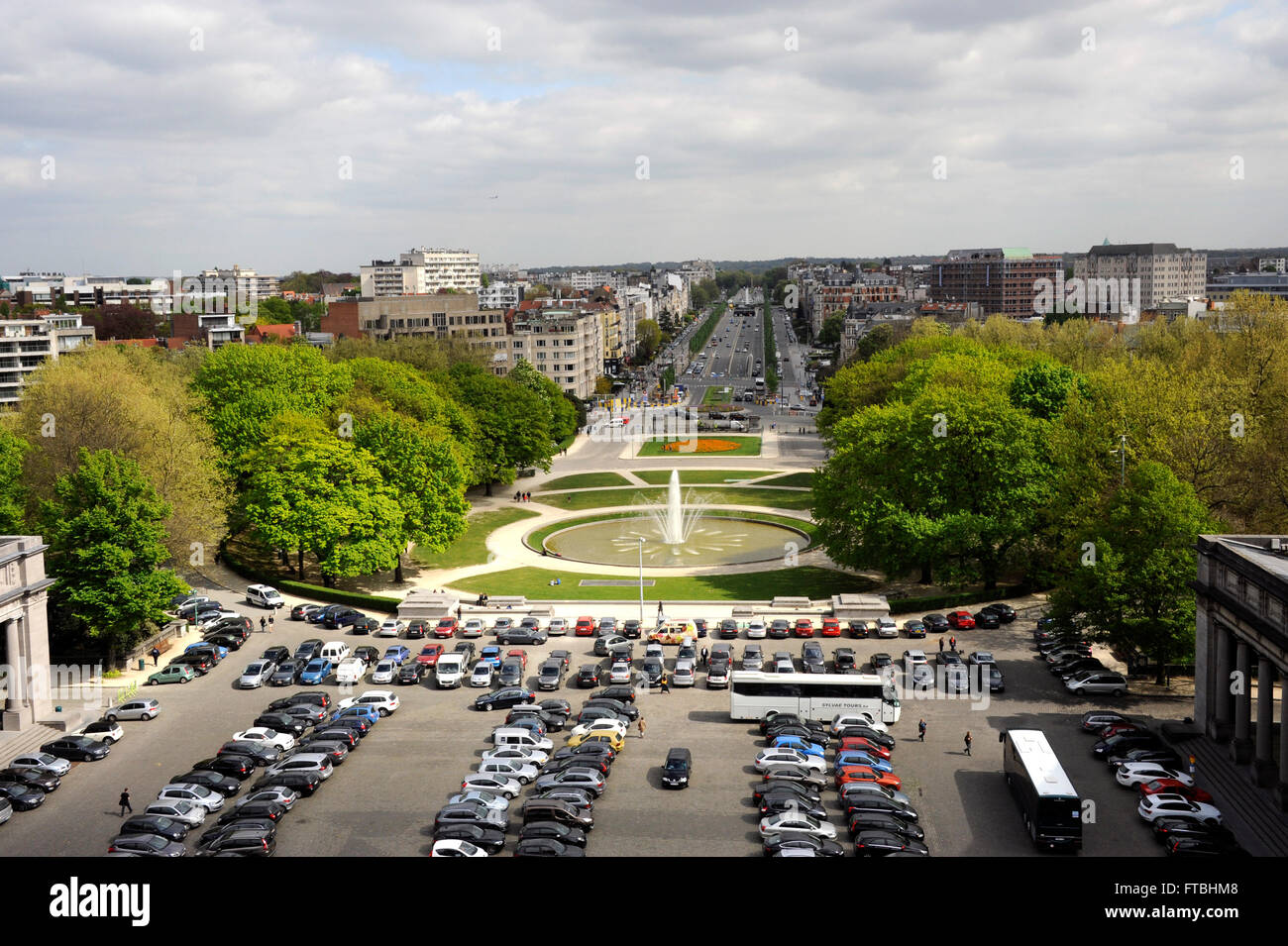 Park of the Fiftieth Anniversary,Brussels,Belgium - Stock Image