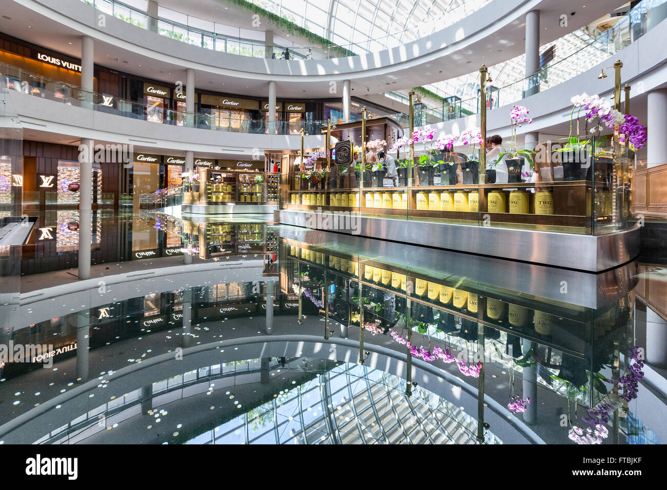 Shoppes at Marina Bay Sands in Singapore - Stock Image