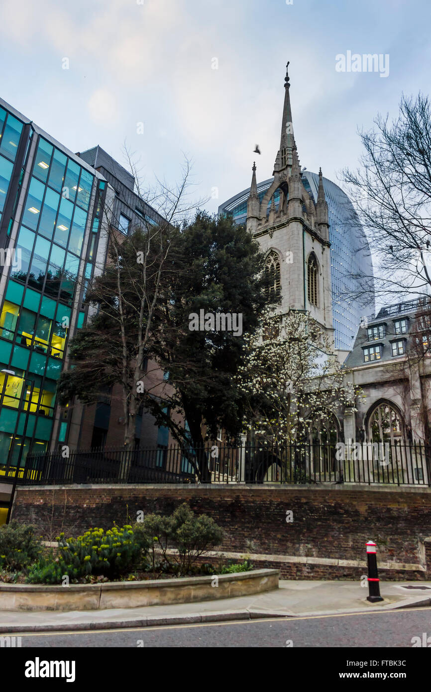 The church of St Dunstan in London. - Stock Image