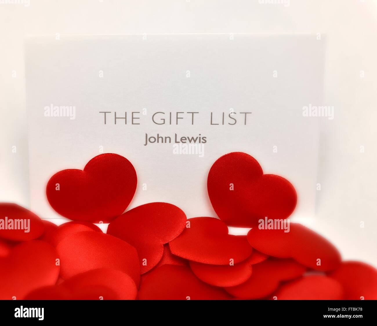 Wedding List Gift Stock Photos Wedding List Gift Stock Images Alamy