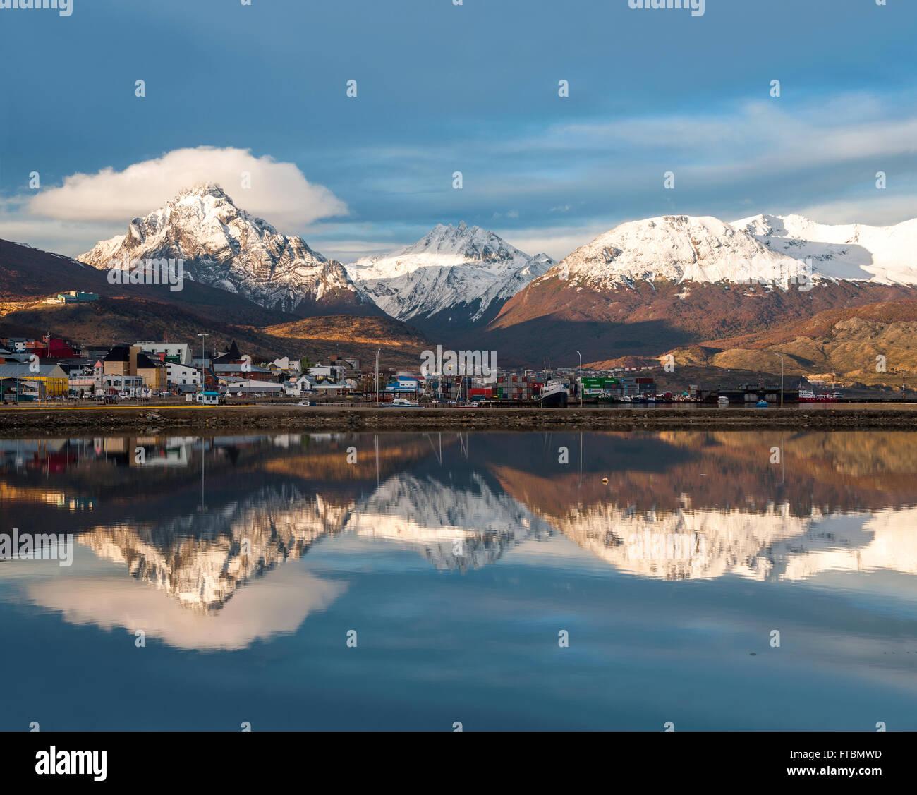 Port of Ushuaia, Tierra del Fuego, Patagonia, Argentina - Stock Image