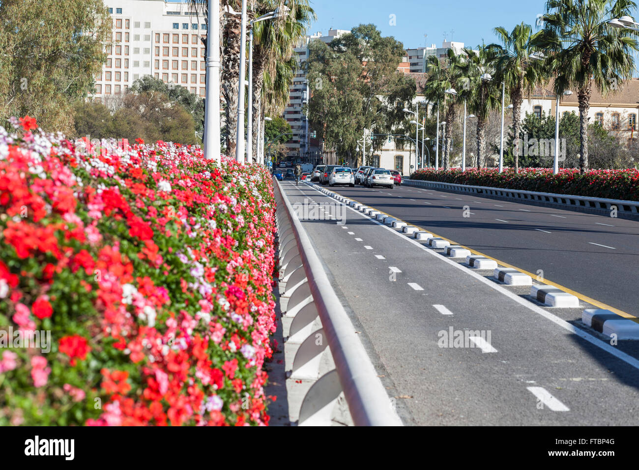 Puente de las Flores,Valencia,Spain. Stock Photo