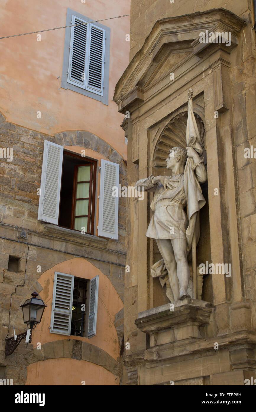 Statue of Michele di Lando, Loggia del Mercato Nuovo, Florence, Italy. - Stock Image