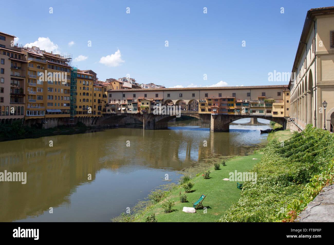 The Ponte Vecchio, Florence, Italy. - Stock Image