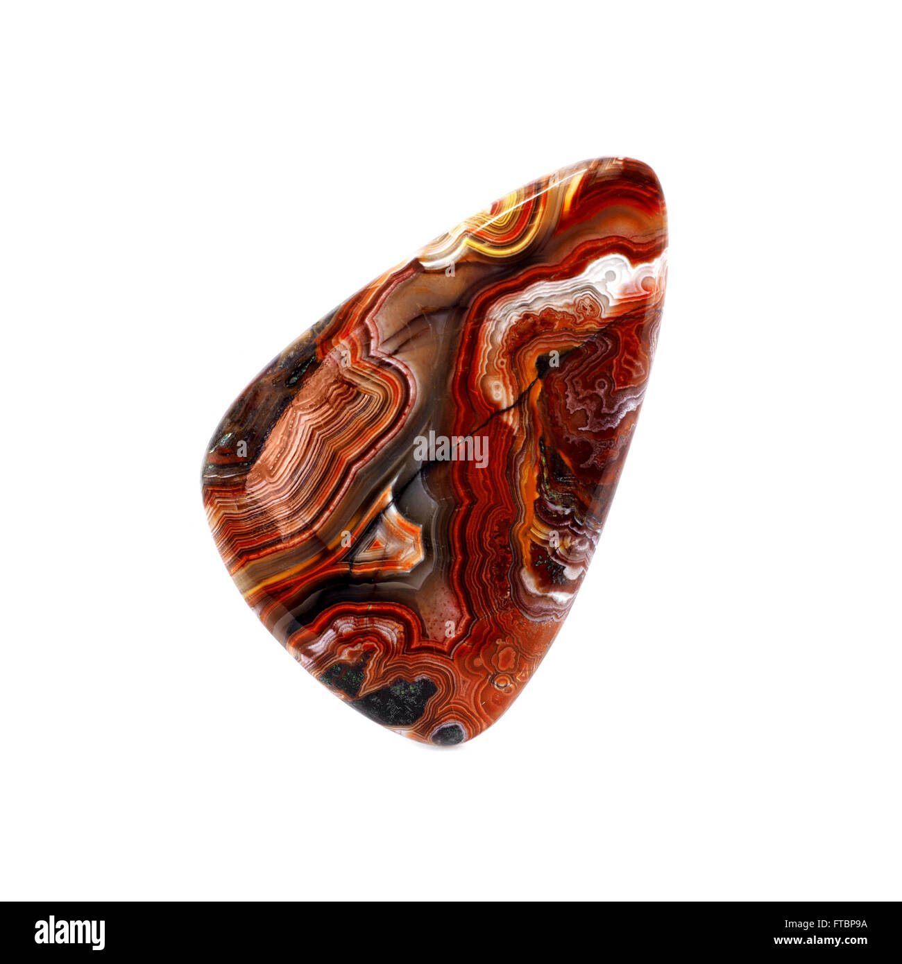 Natural Gemstone - Crazy Lace Agate from Africa - Stock Image