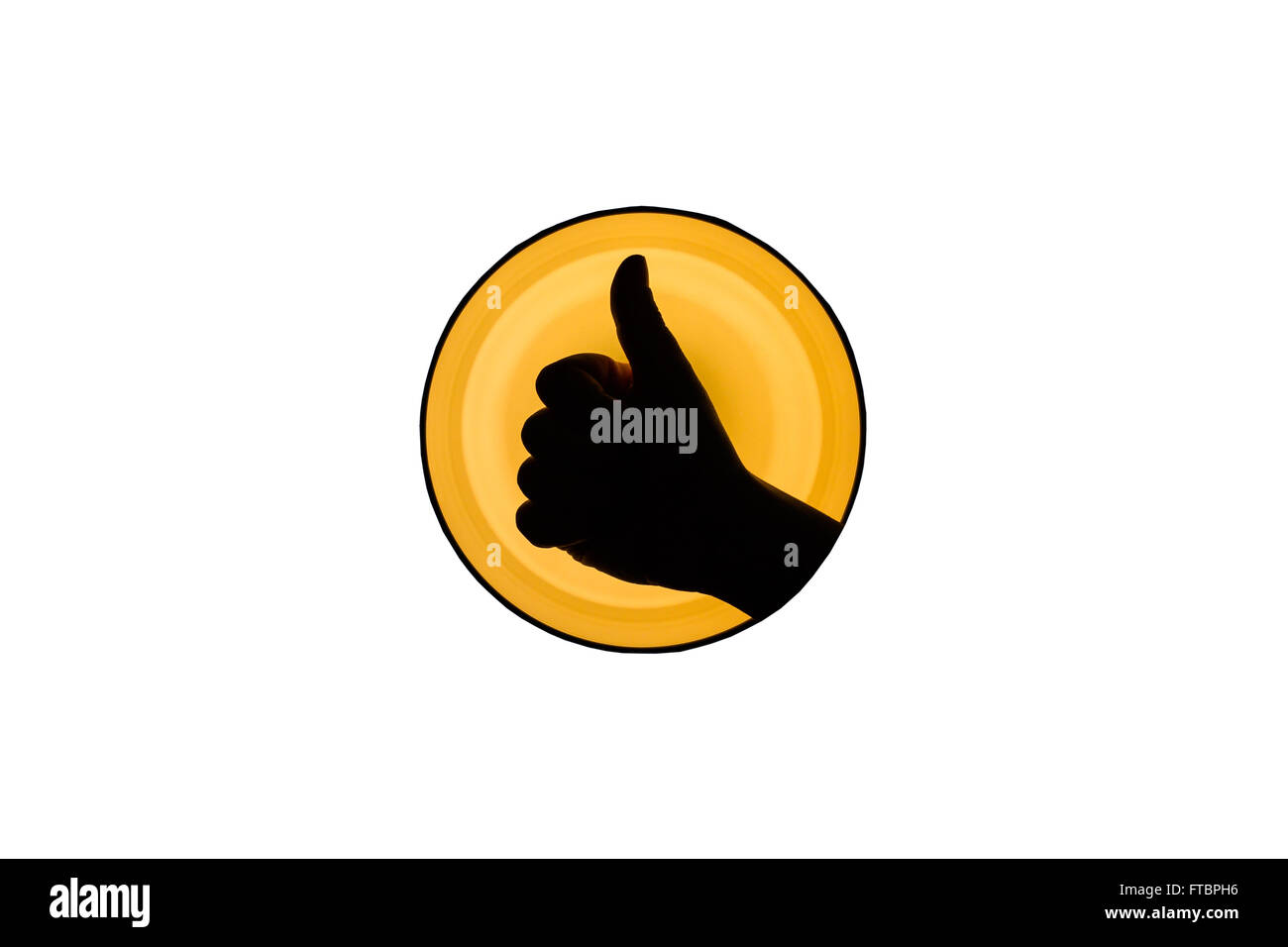Hand making a Thumbs up sign - Stock Image