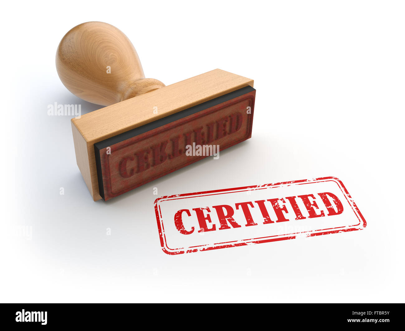 Stamp With Text Certified Isolated On White Certification Or Guarantee Certificate Concept 3d