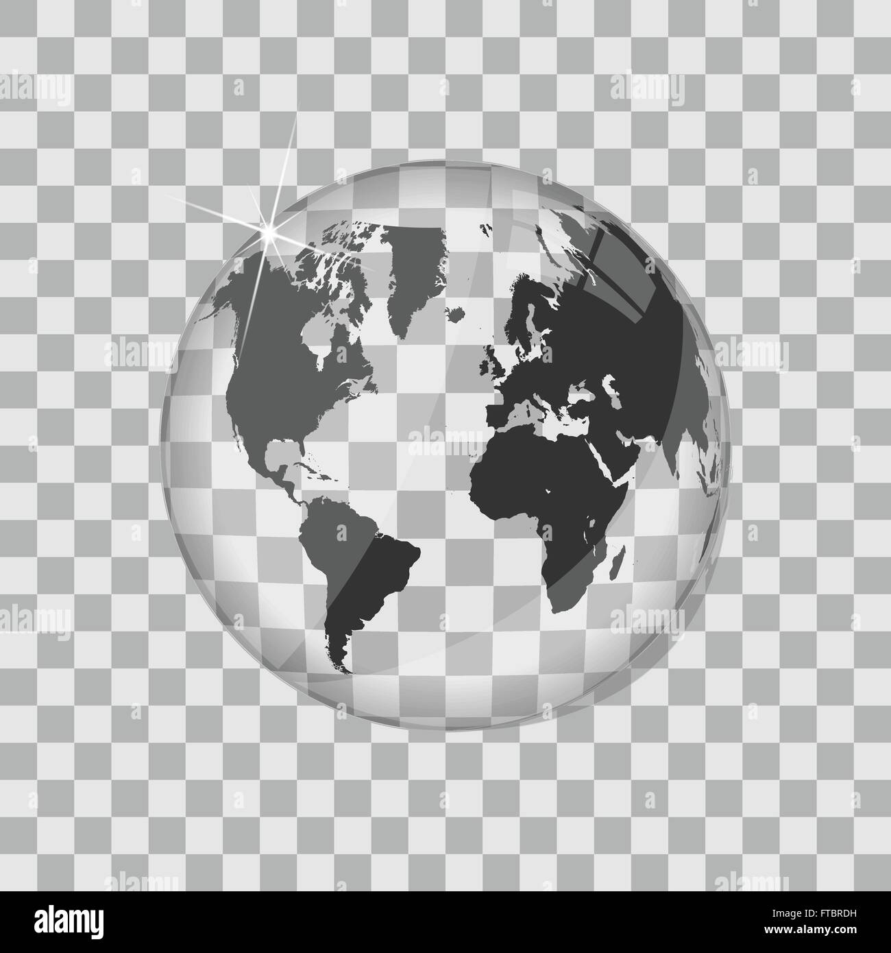 World map glass globe vector illustration stock vector art world map glass globe vector illustration gumiabroncs Choice Image