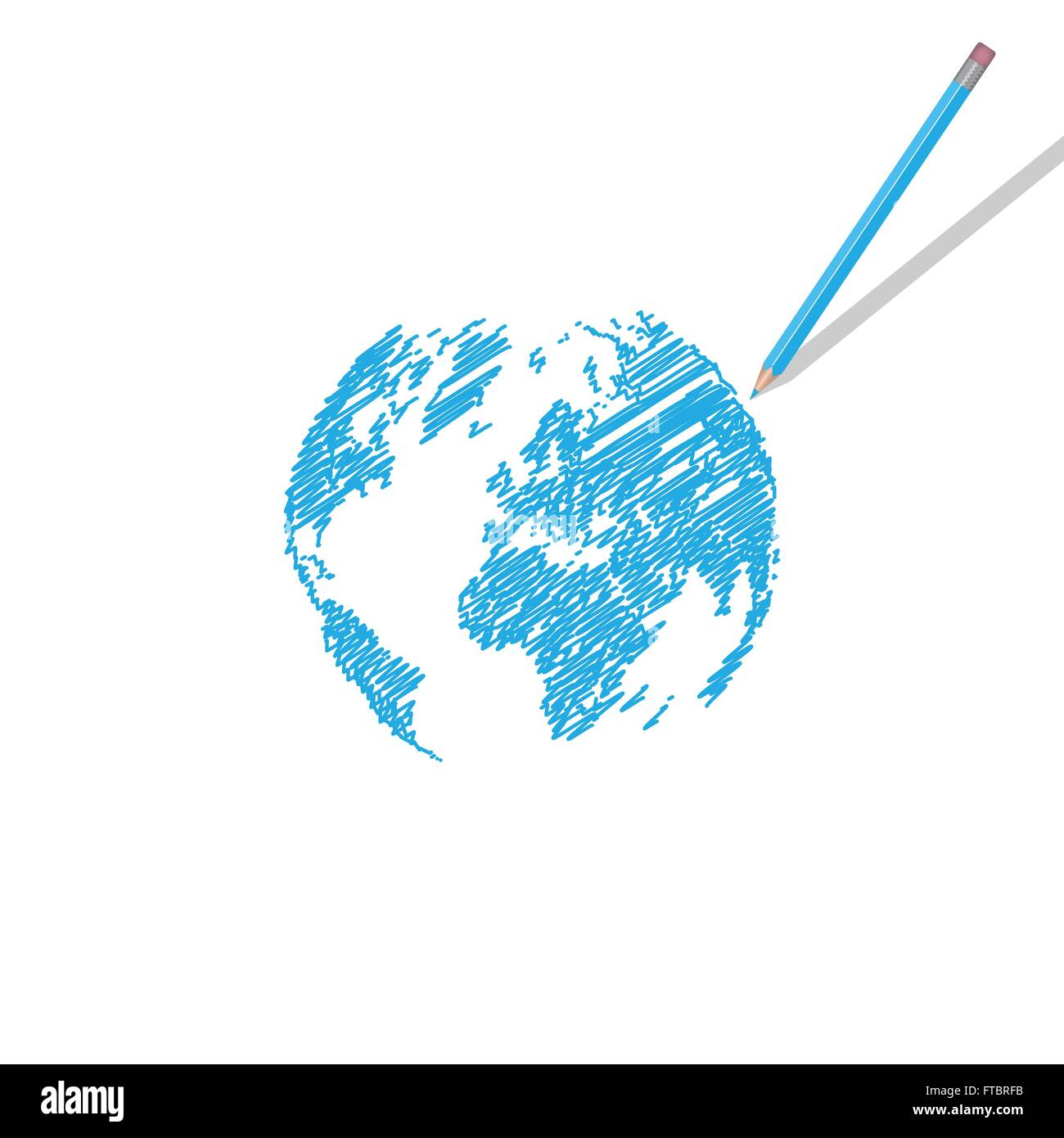Funny world map illustration stock photos funny world map world map scribble illustration stock image gumiabroncs Choice Image