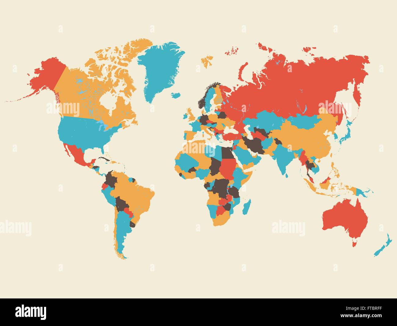 Colorful world map illustration stock vector art illustration colorful world map illustration gumiabroncs Gallery