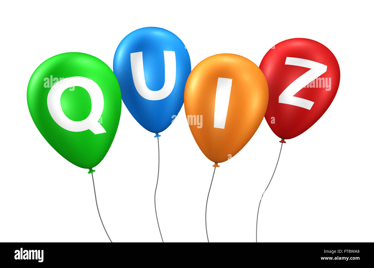 Quiz online gaming, Internet and blog concept with quiz word