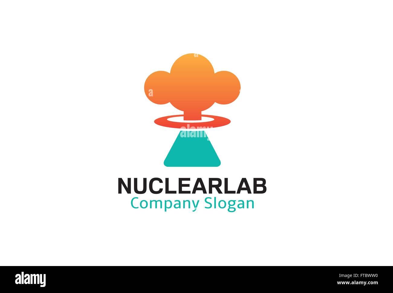 Nuclear Lab Design Illustration - Stock Vector