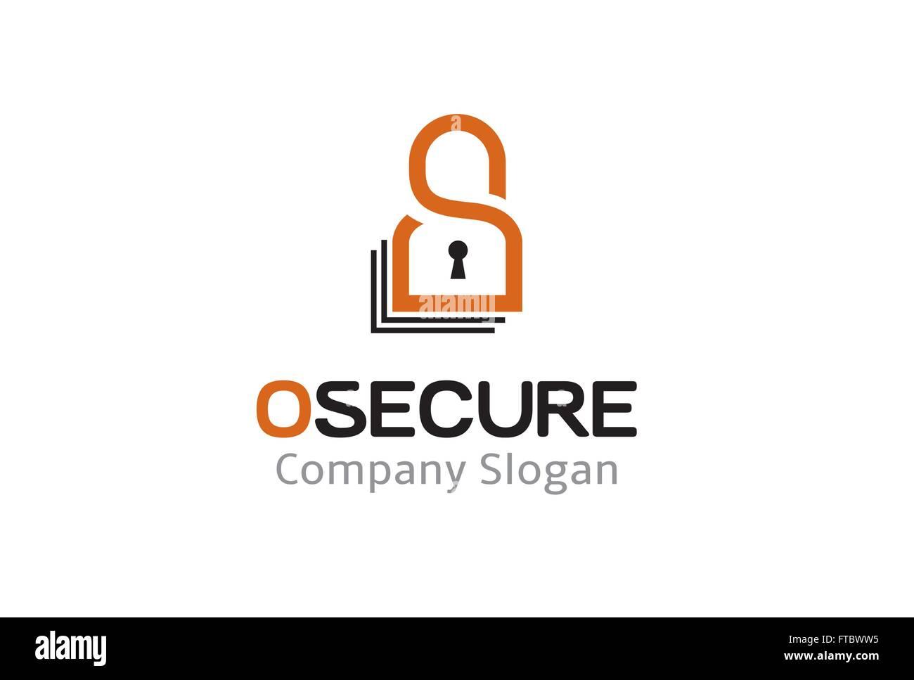 Open Lock Security Point Design Illustration - Stock Vector
