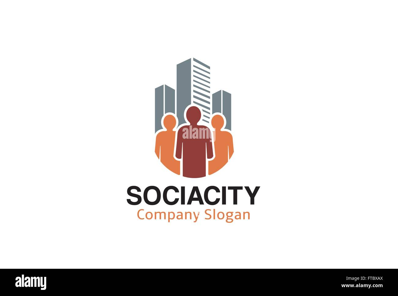 Social City Design Illustration - Stock Vector