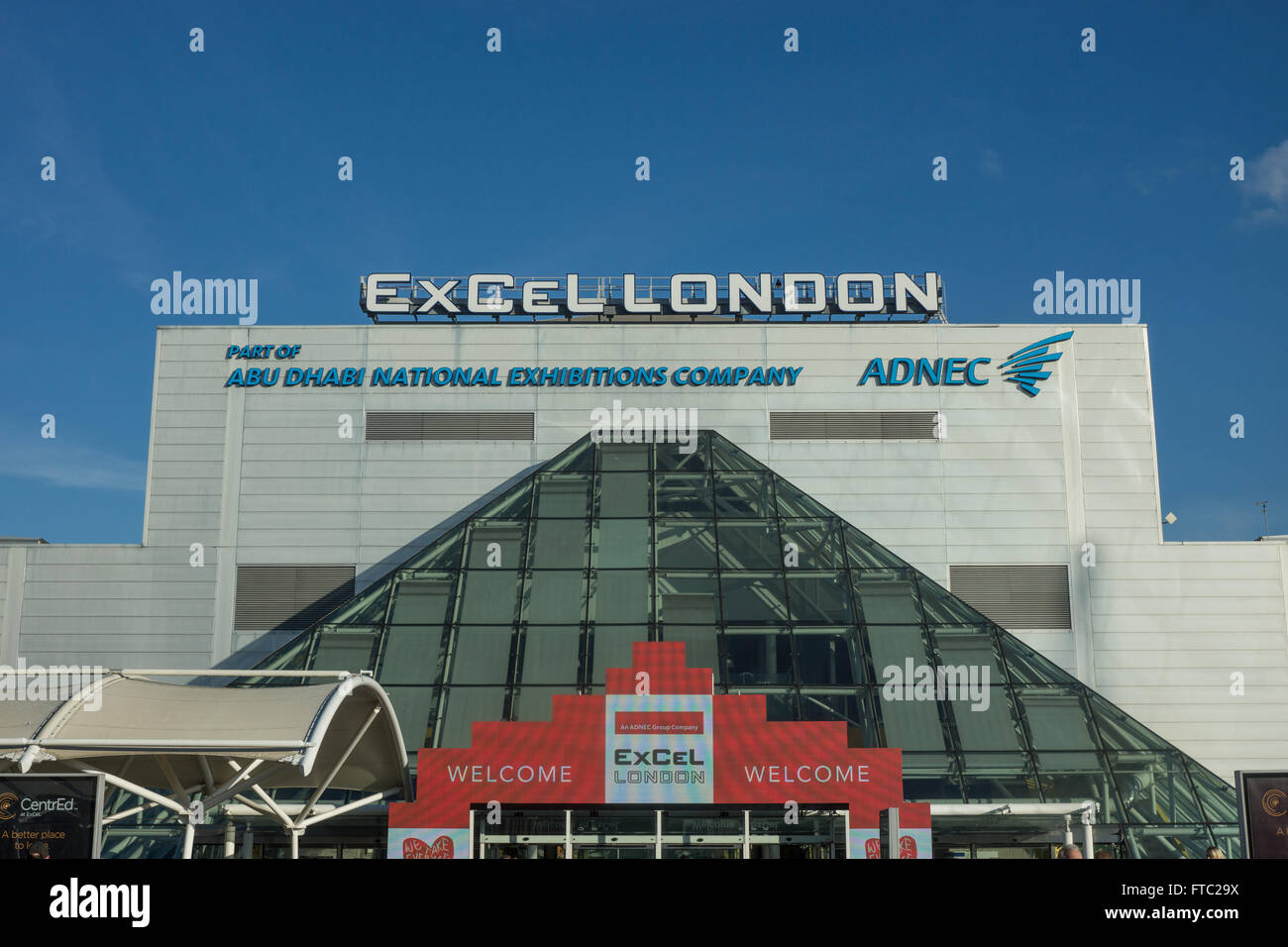 ExCel London   Exhibition Centre Docklands - Stock Image