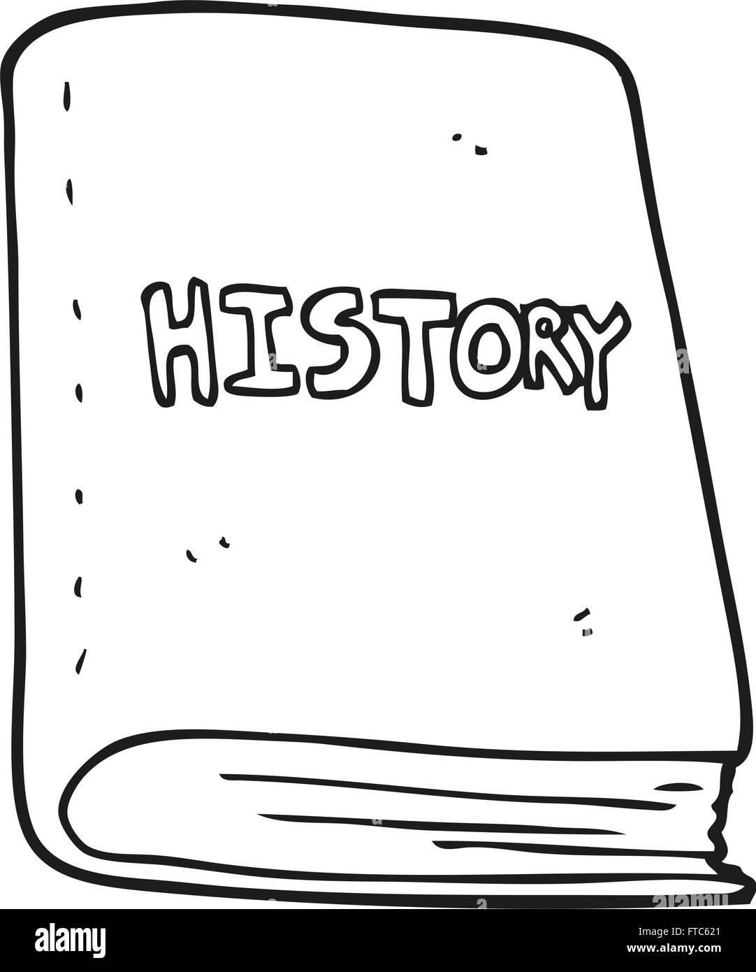 Freehand Drawn Black And White Cartoon History Book Stock Vector Image Art Alamy
