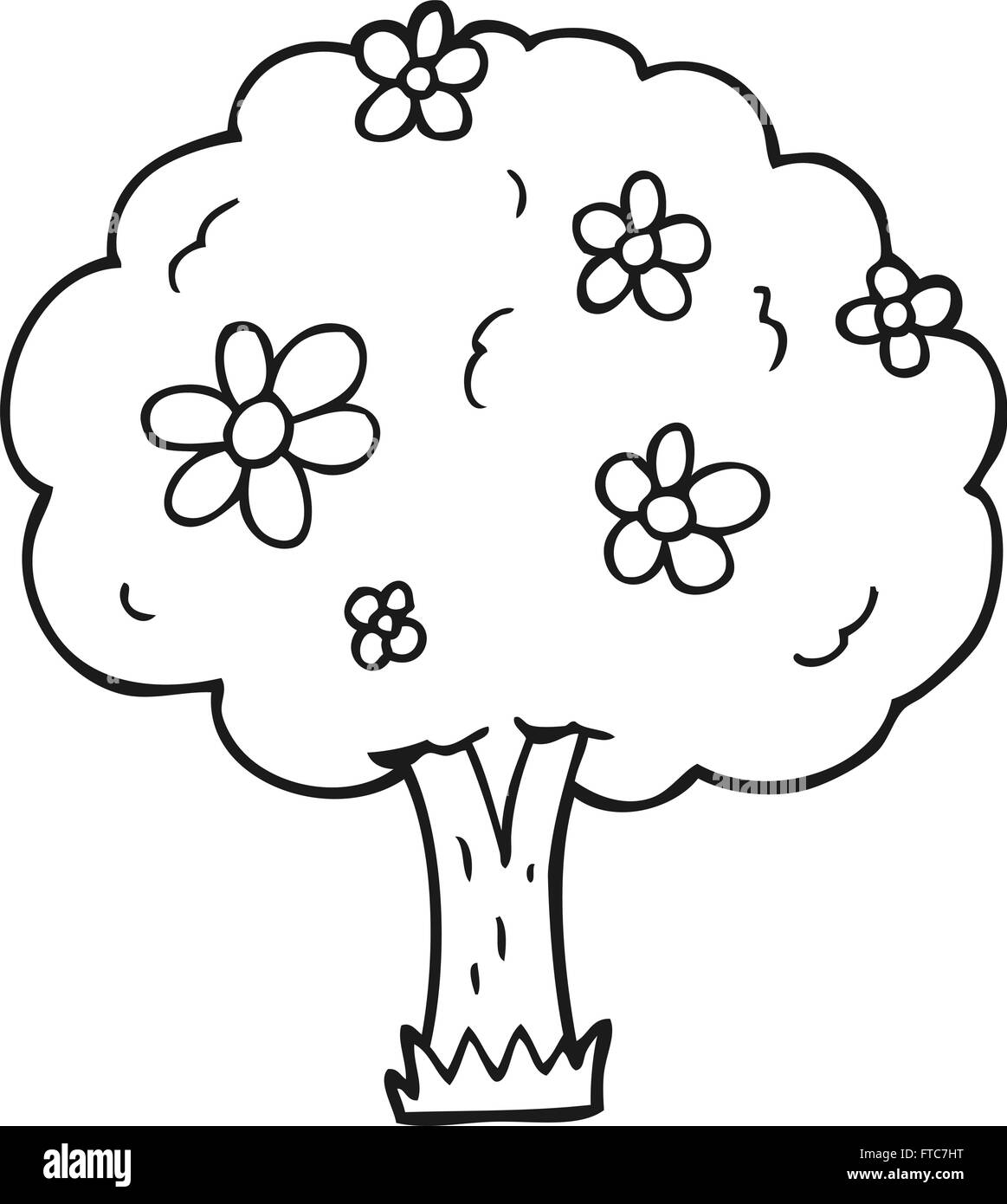 Freehand Drawn Black And White Cartoon Tree With Flowers Stock Vector Image Art Alamy Wow very nice shot, i like it how its got the mountains in the background, and i really like the look of the dead tree. https www alamy com stock photo freehand drawn black and white cartoon tree with flowers 101072996 html