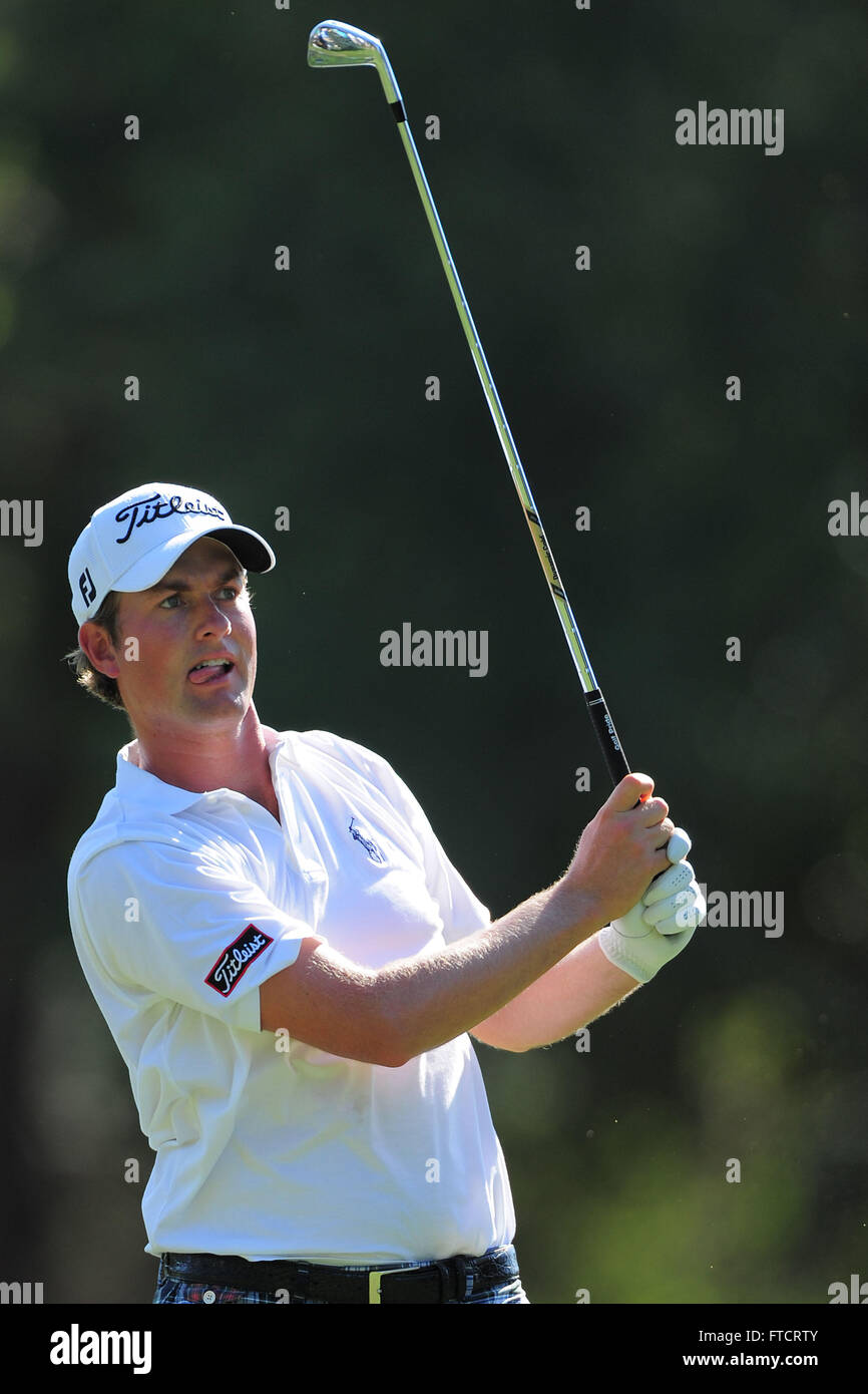 Palm Harbor, Fla, USA. 17th Mar, 2012. Webb Simpson during the third round of the Transitions Chapionship on the Stock Photo