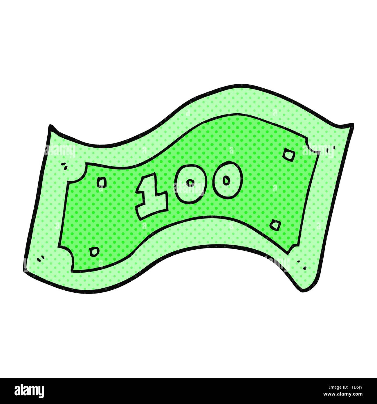 freehand drawn cartoon 100 dollar bill stock vector art rh alamy com  100 dollar bill vector art