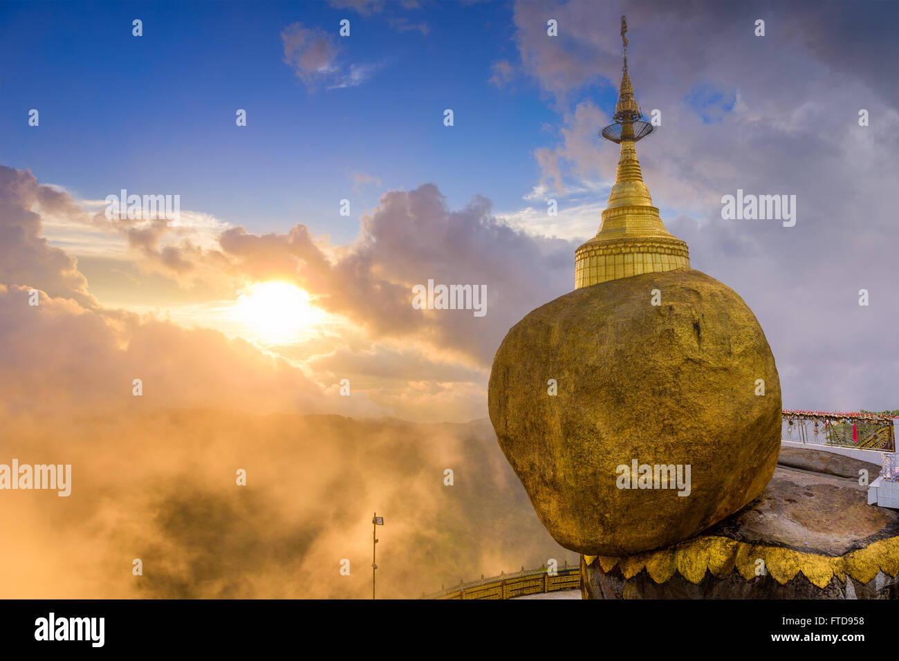 Golden Rock of Mt. Kyaiktiyo, Myanmar. - Stock Image