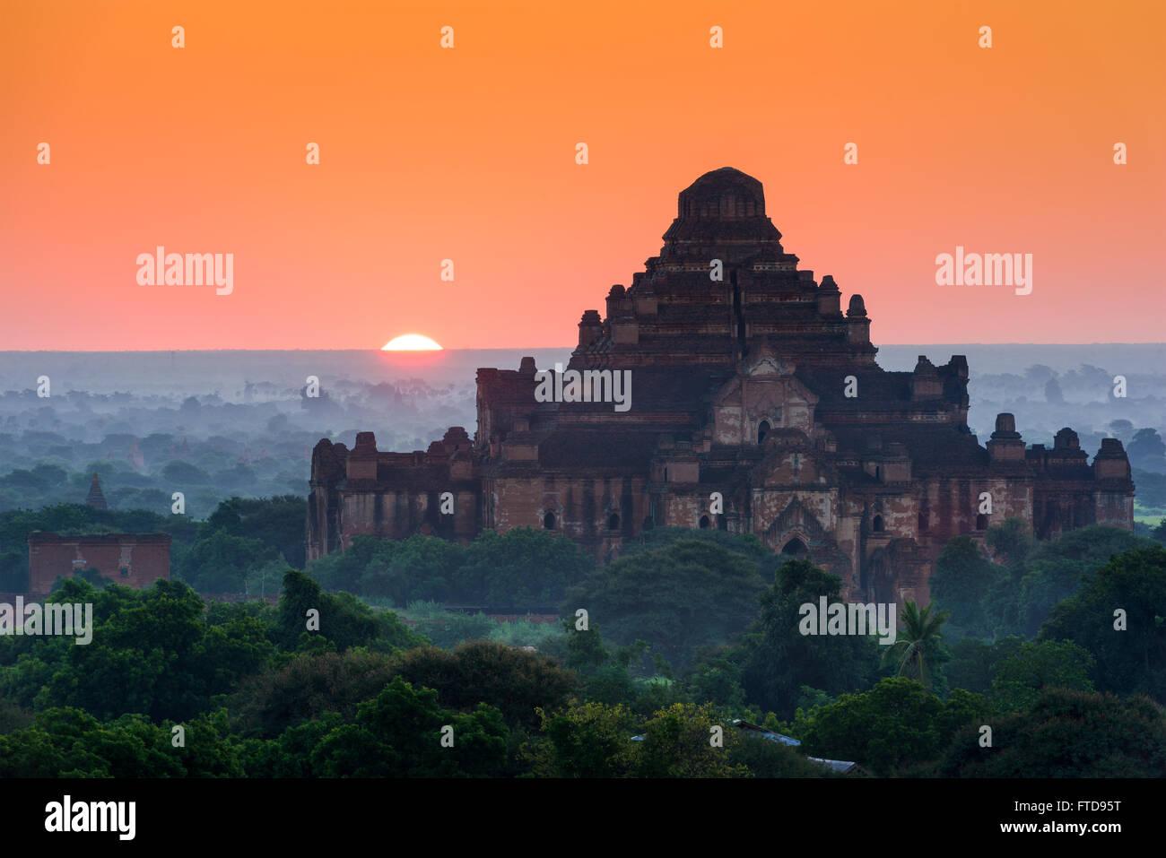 Bagan, Myanmar archeological zone at Dhammayangyi Temple. - Stock Image