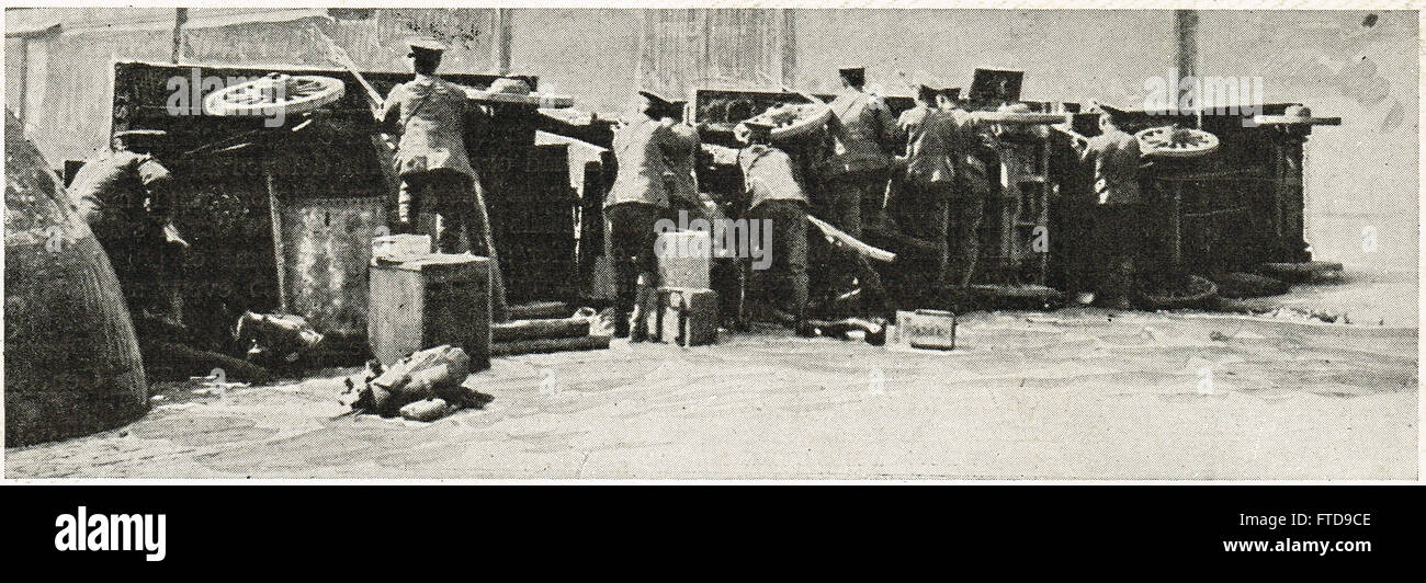 Abbey St Barricades Easter uprising 1916 - Stock Image