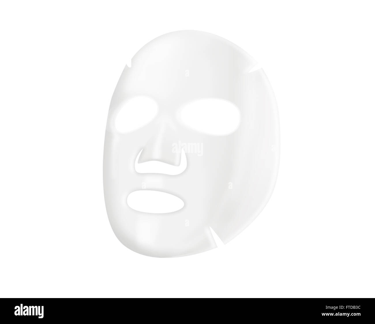 Facial sheet mask - Stock Image