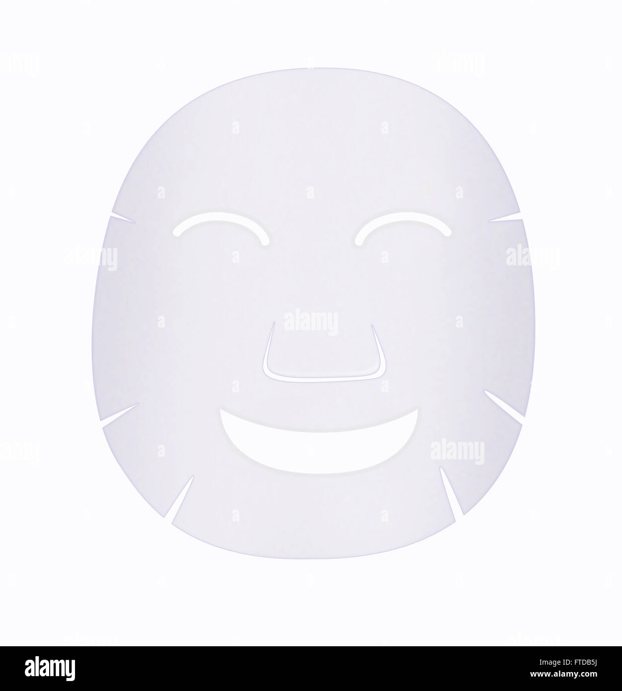 Facial sheet mark have a feeling very happy with smile - Stock Image