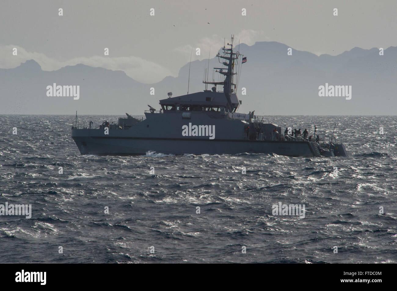 150425-N-TC720-006 ATLANTIC OCEAN (April 25, 2015) The Senegalese navy offshore patrol vessel Kedougou (OPV 45) - Stock Image